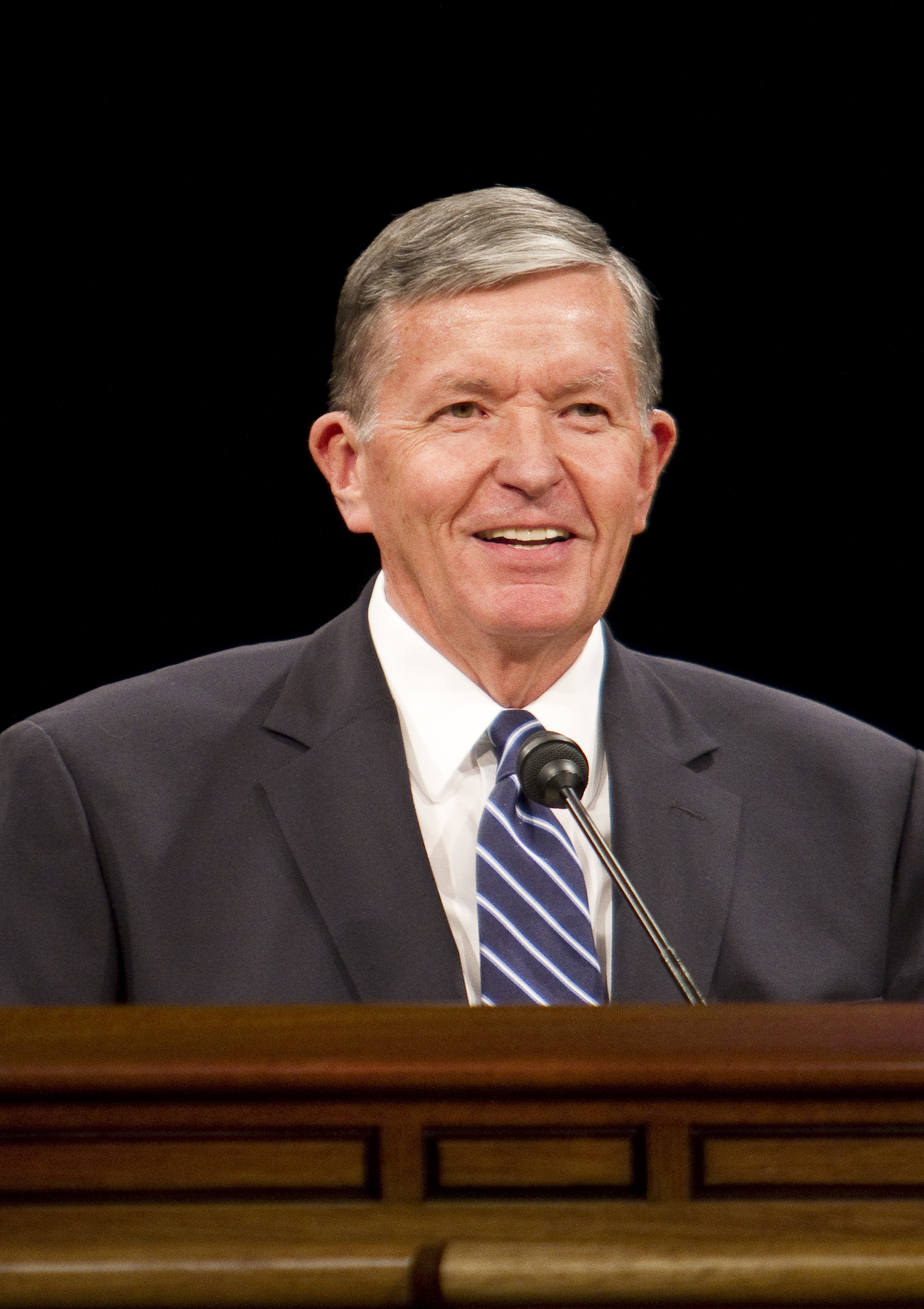 President Cecil O. Samuelson speaks at the school year's first devotional on Tuesday in the Marriott Center.
