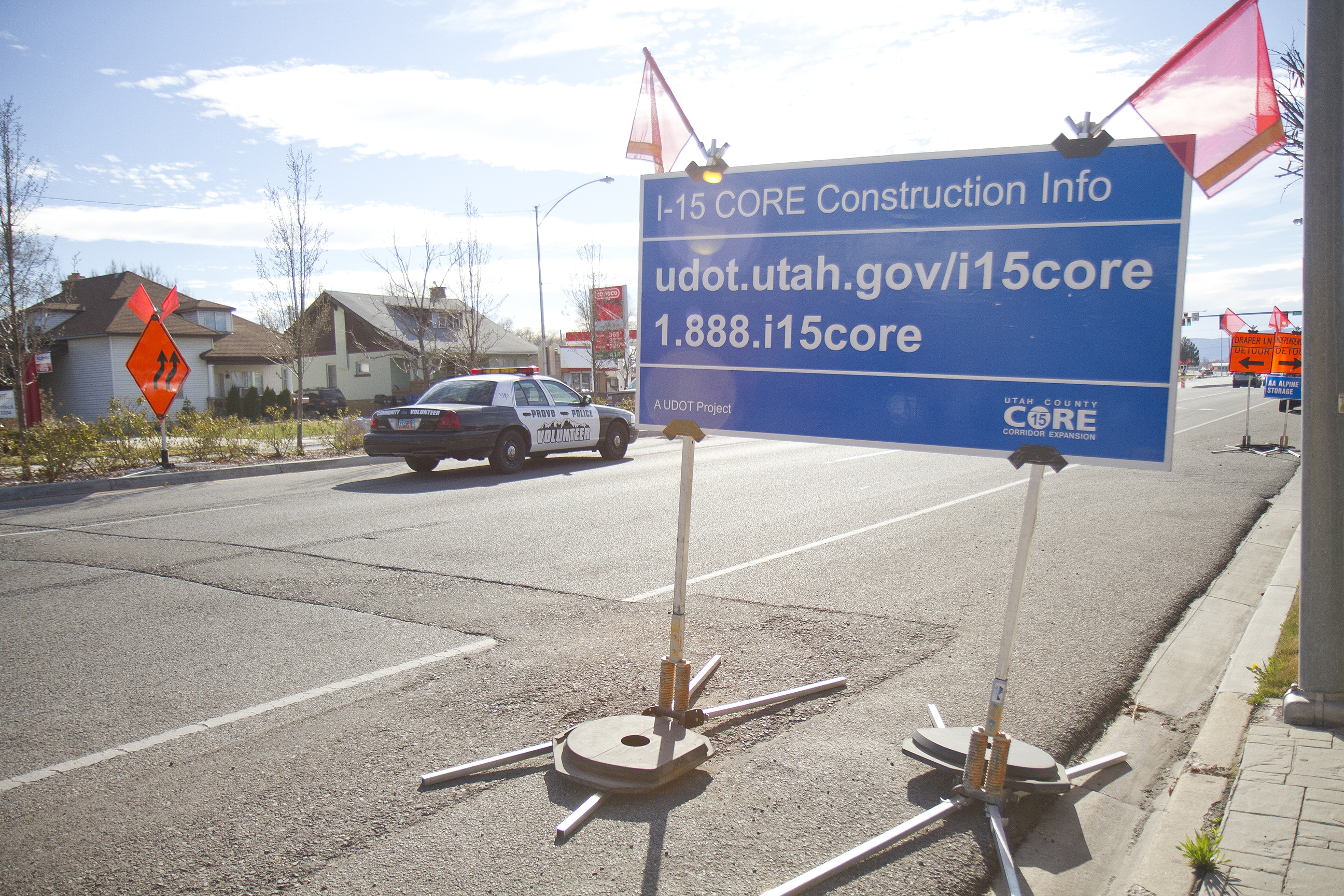 Signs for the I-15 CORE, which now litter Utah County, will soon be removed with the Governor's challenge to finish the project by Thanksgiving.