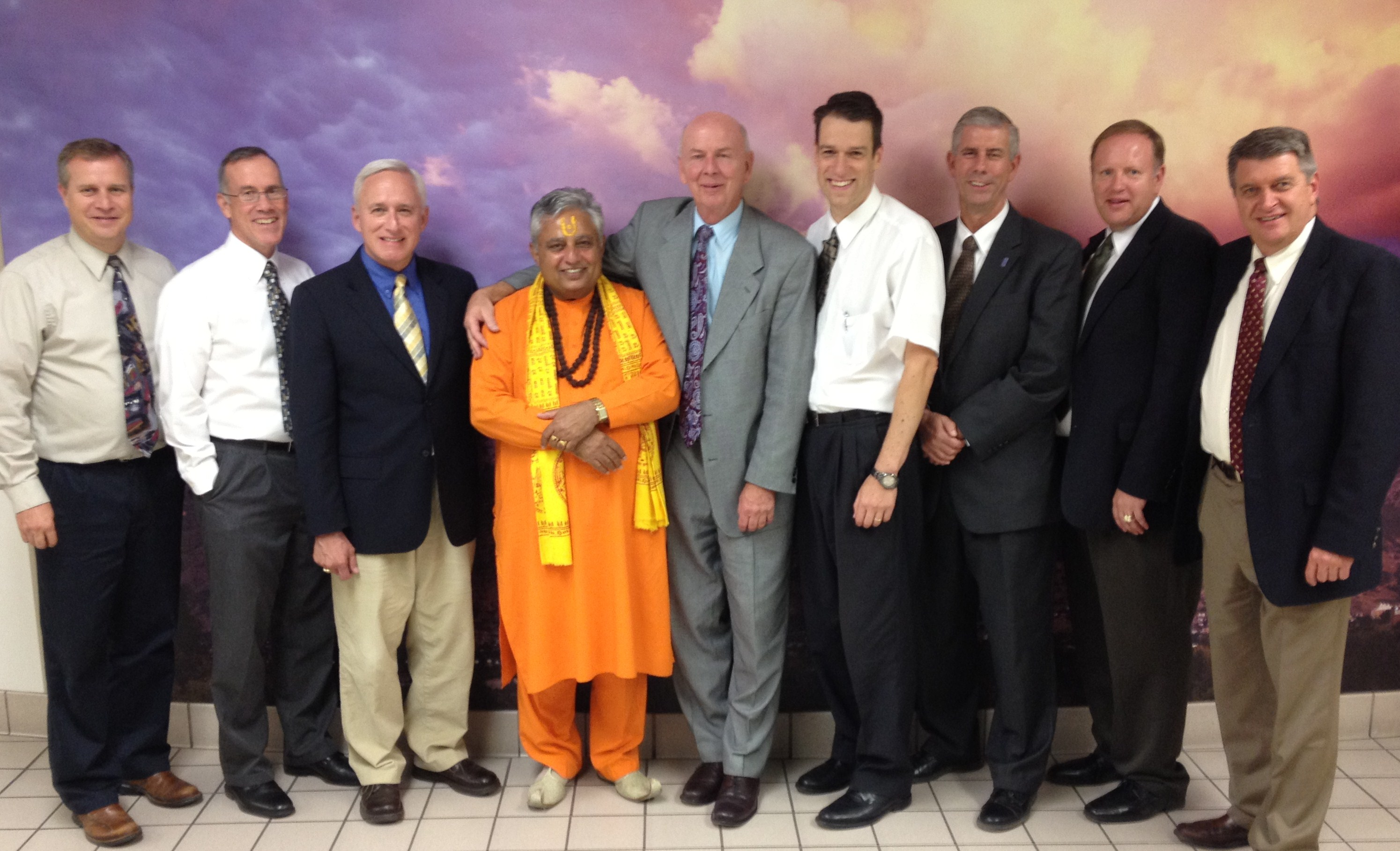 Rajan Zed with BYU Provo faculty of Religious Studies