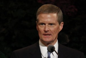 Elder David A. Bednar speaks at October's General Conference (Photo by Universe Photographer)