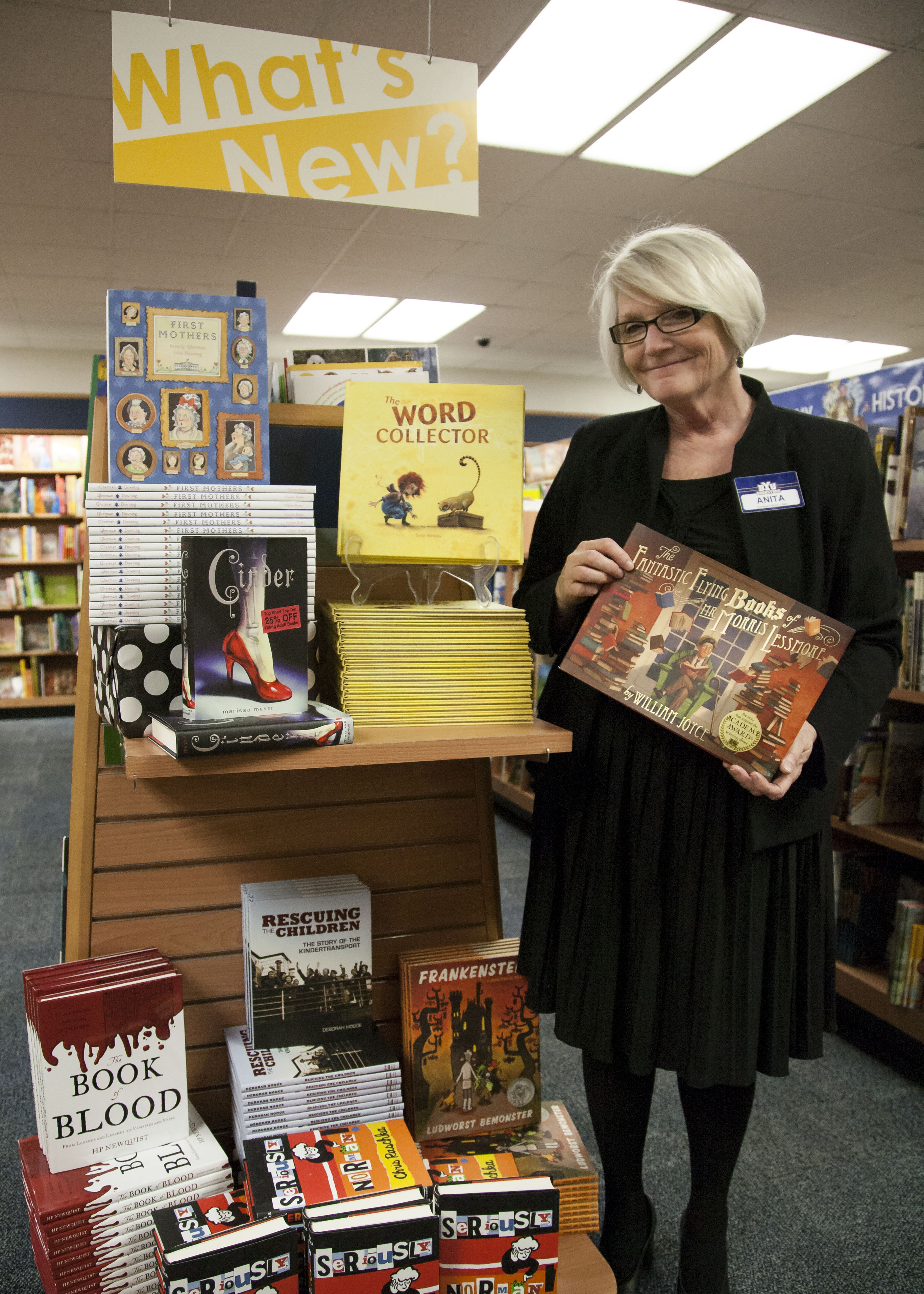 Anita Charles presents books for this year's Annual Christmas Booktalk. by a.