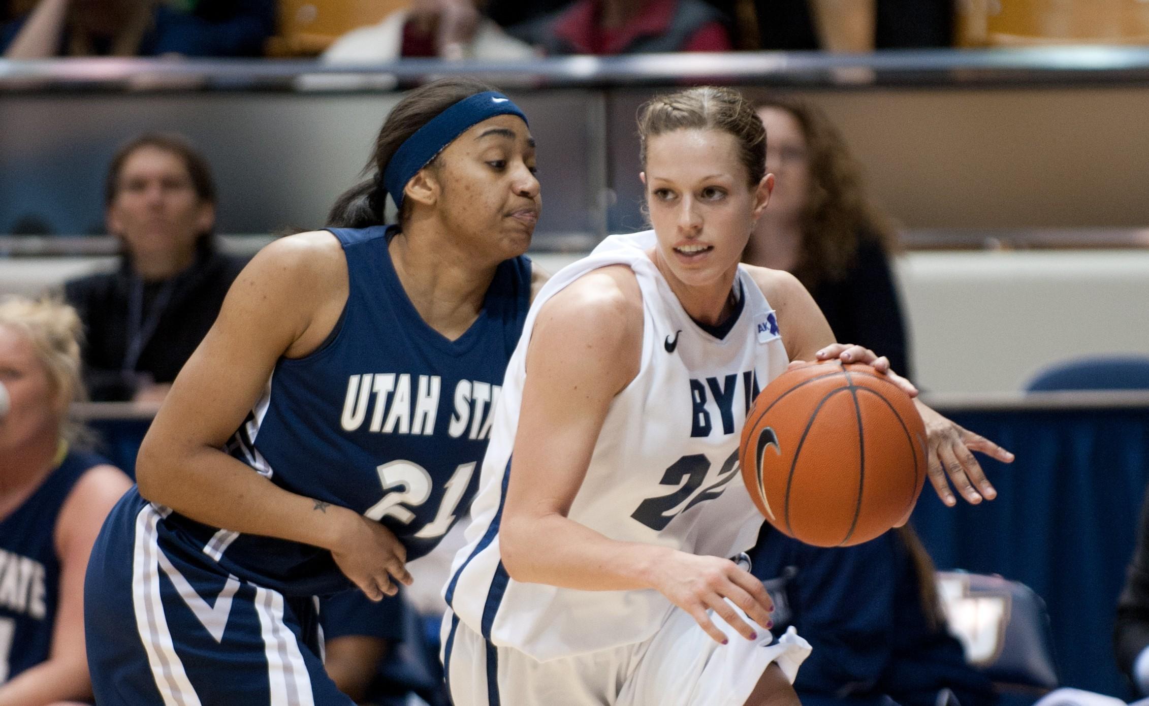 BYU Womens basketball vs utah state-3