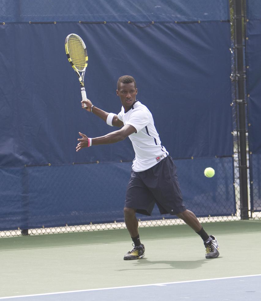 BYU Tennis Team defeats South Florida (Photo by Sarah Hill)