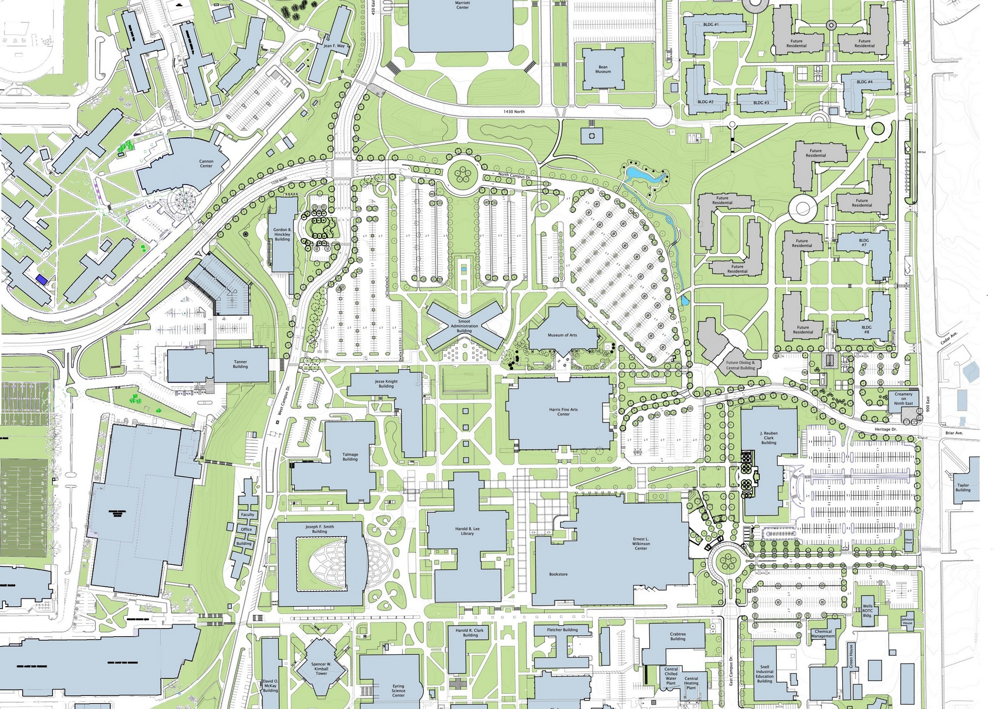 Map Of Byu | Helderateliers