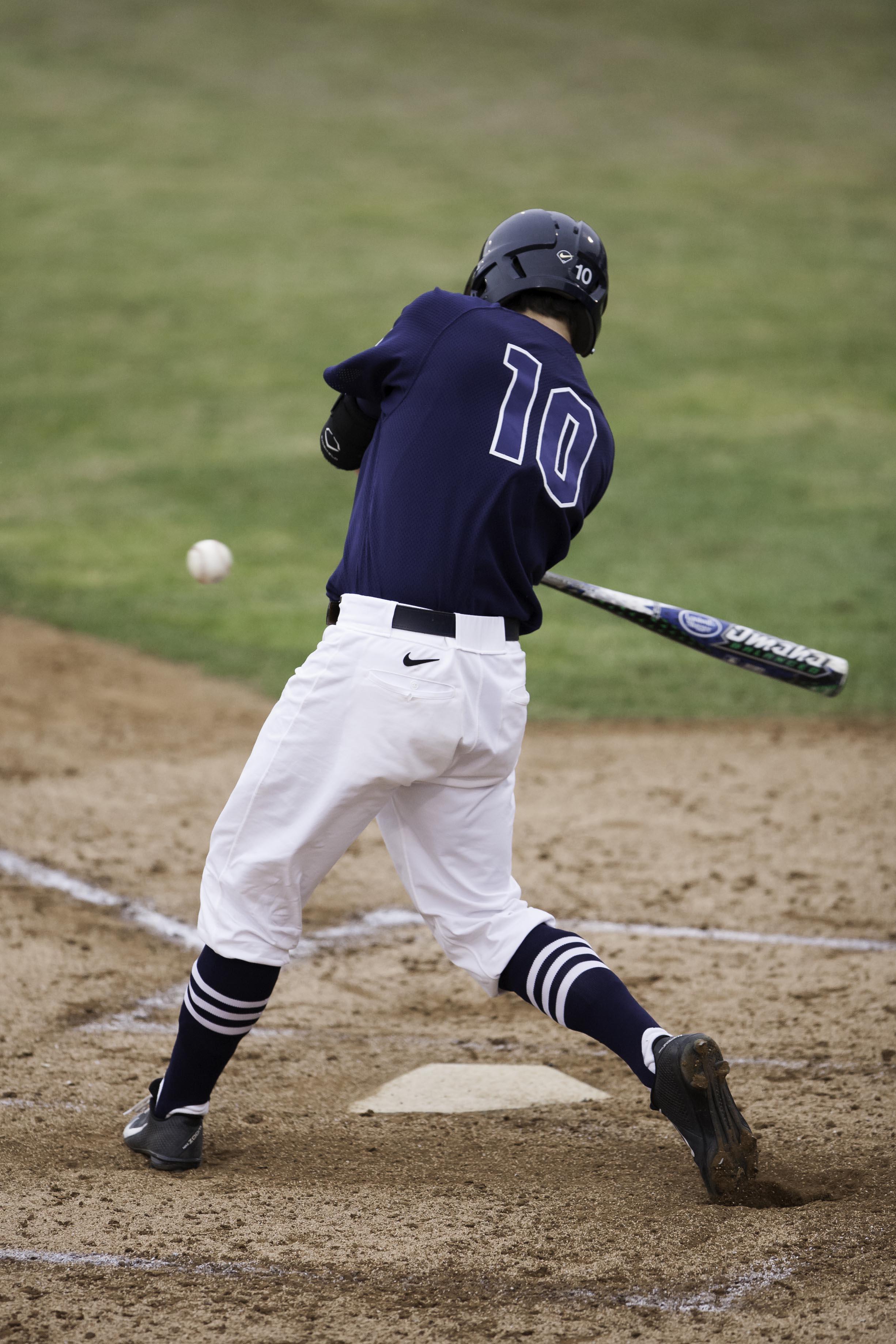 Dakota Hernandez of BYU up for bat against University of California, Irvine. (Elliott Miller)