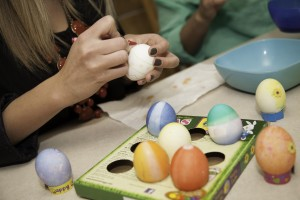 BYU students decorate Easter Eggs for the Easter holiday.