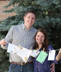 Marissa and Chase Anderson wrote weekly letters to each other while serving missions simultaneously. They were married three moths after they were reunited, and are now expecting their first baby. (Photo by Samantha Varvel)