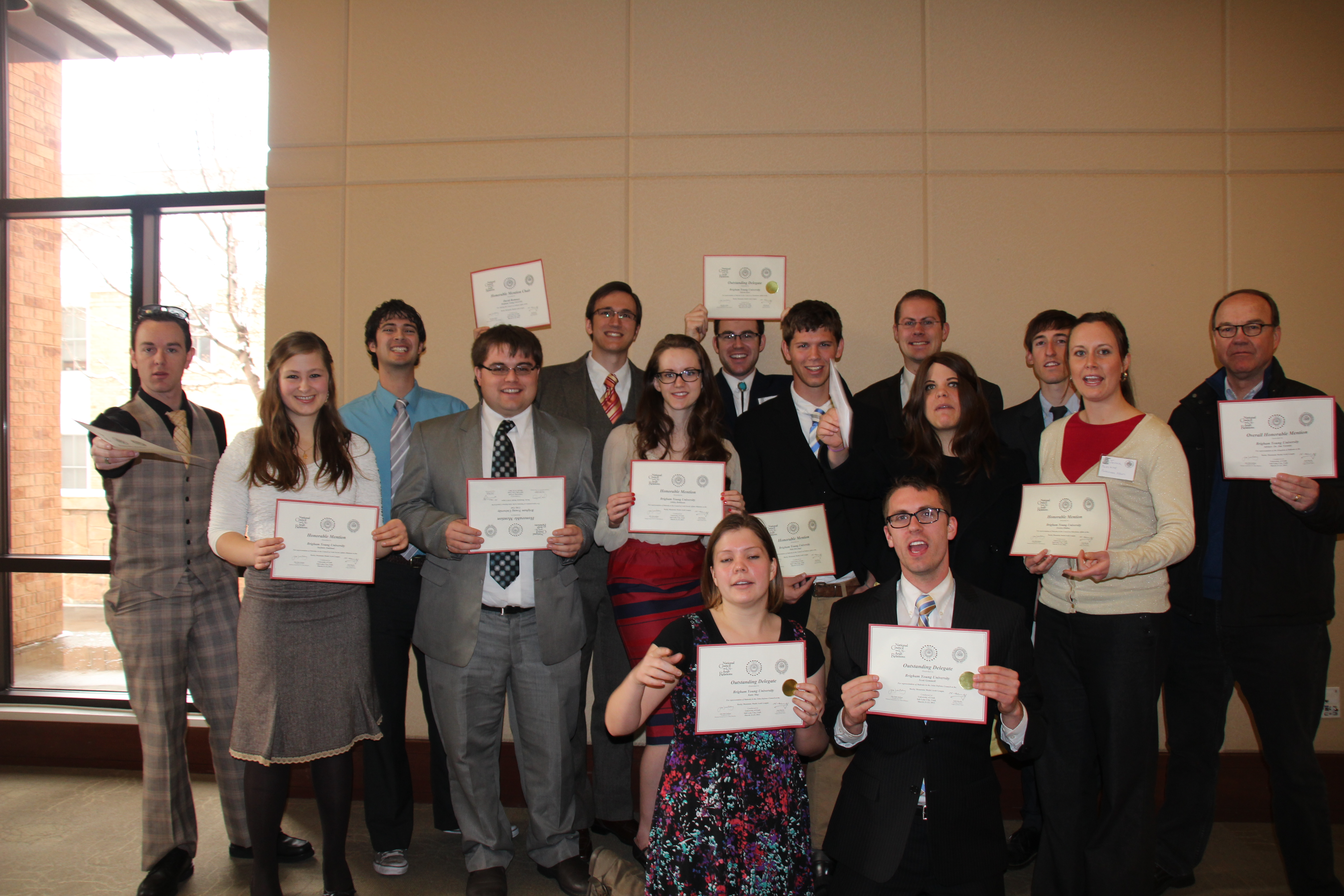 Most of the Model Arab League students returned from the regional competition with awards and positive connections with other students there. Photo by Bay Ying-Bei