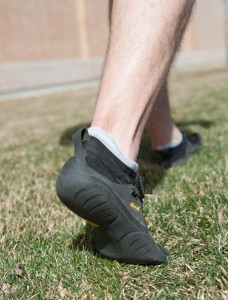 Runners switching to a more natural shoe should consider running on natural surfaces, like grass. (Photo by Chris Bunker)