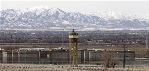 File - A Tuesday, Feb. 19, 2013 file photo shows the Utah State Prison in Draper, Utah. The Utah Legislature has voted to build a new prison in west Salt Lake City  (AP Photo/Rick Bowmer, File)