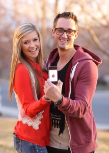 The Tinder app has helped many find dates in Provo without the pressure of online dating. (Photo illustration by Samantha Varvel)