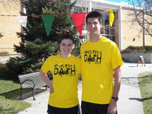 Siblings Bryan and Emma Cisneros took first place in the team competition at the annual Splash and Dash. (Photo courtesy Robert Morain)