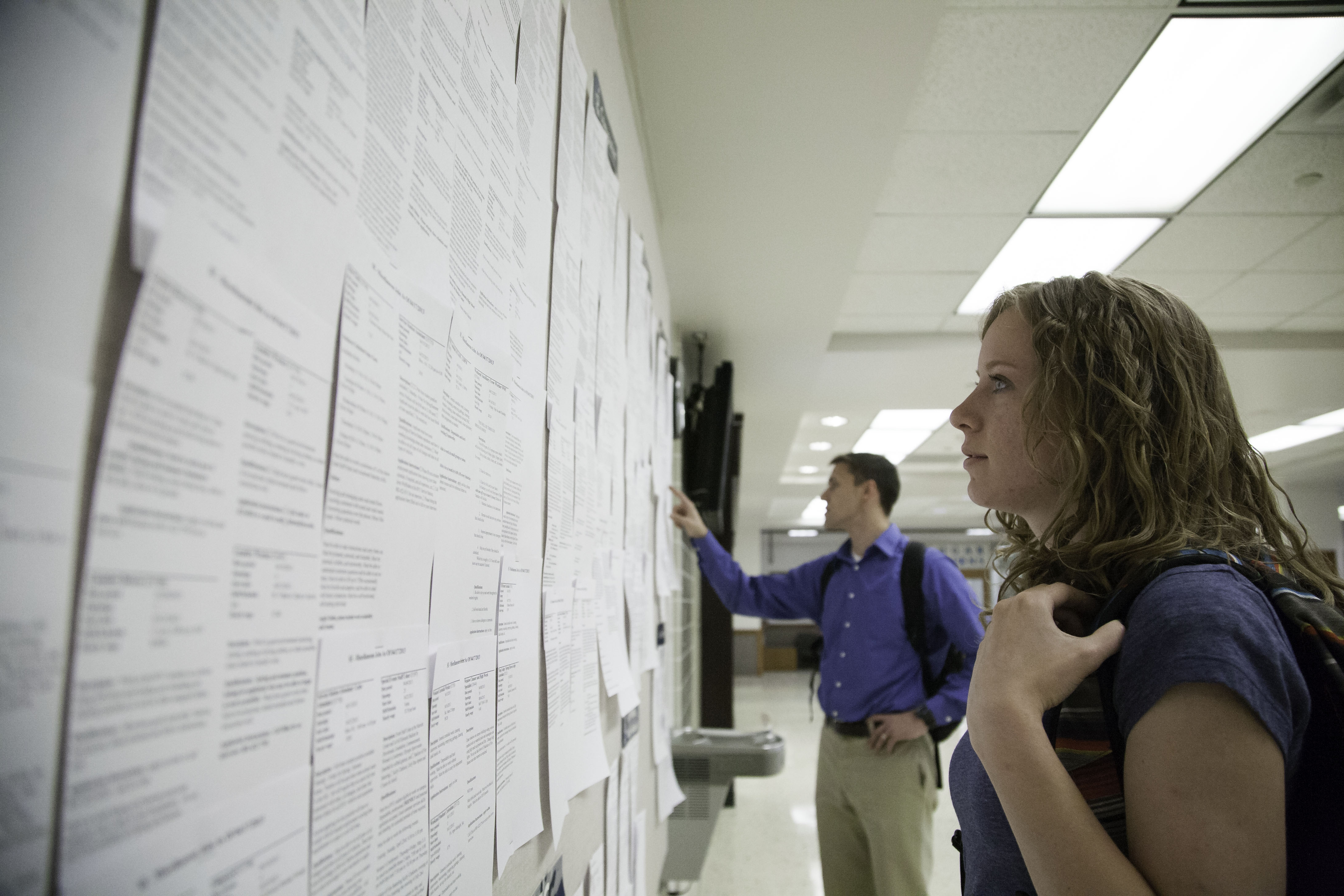 missionary age change linked to unfilled byu campus jobs the byu students ariel jay and jared bruton search the job board photo by elliott