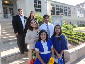 Muzna Bukhari, middle left, and her family.