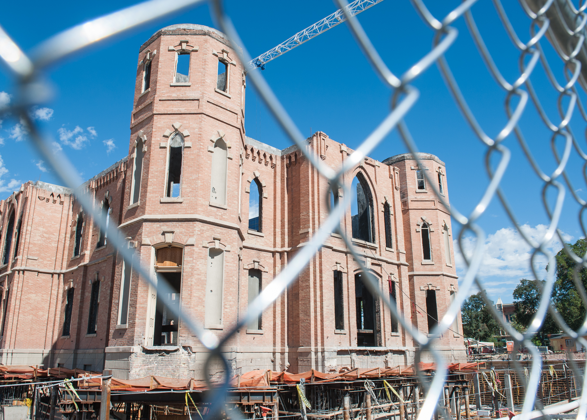 The Provo City Temple, seen here, is expected to be completed in 2015, but no official date has been given. (Photo by Chris Bunker)