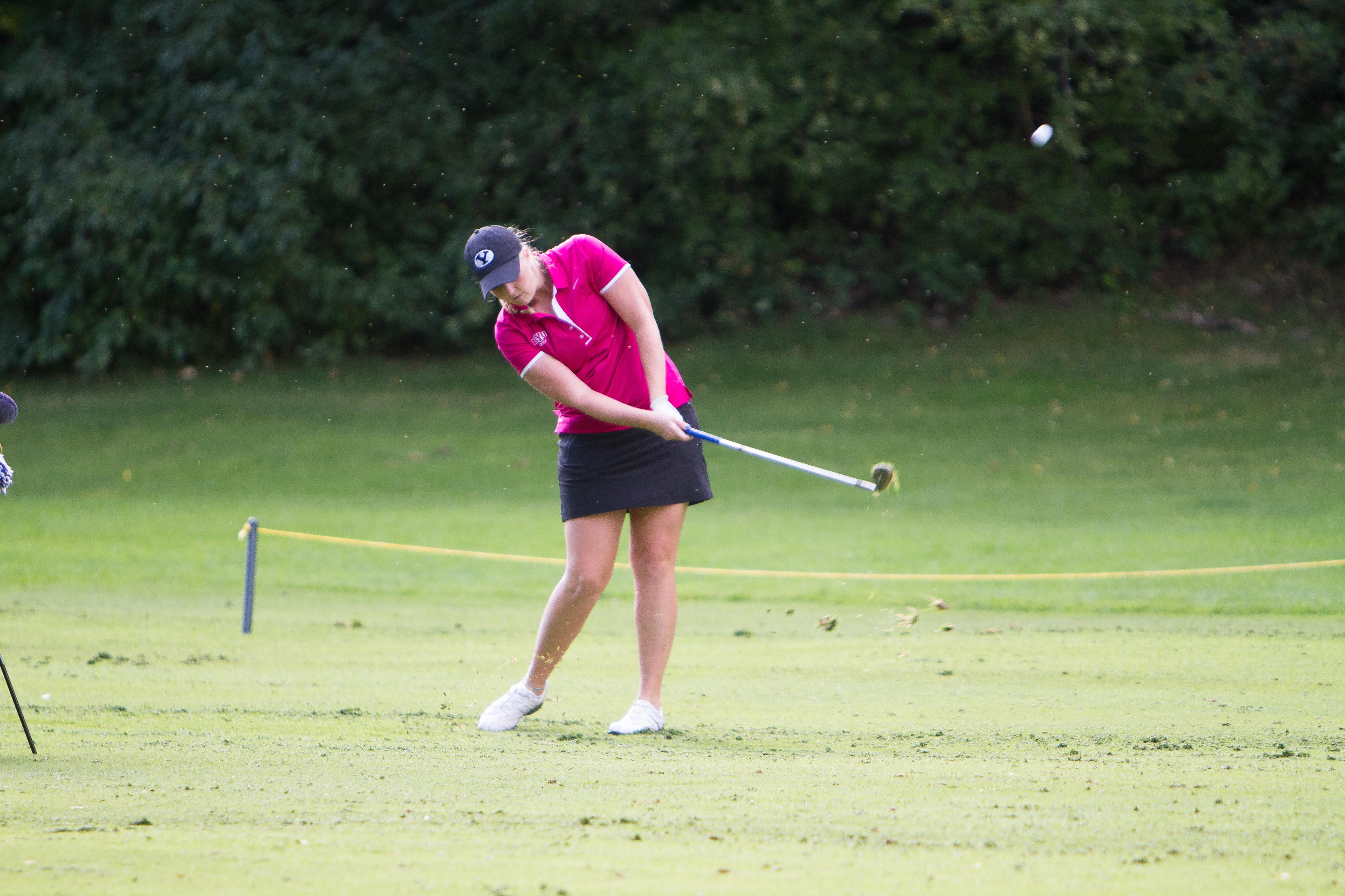 Lea Garner hits a shot during the Hobble Creek Tournament in 2013. (Sarah Hill)