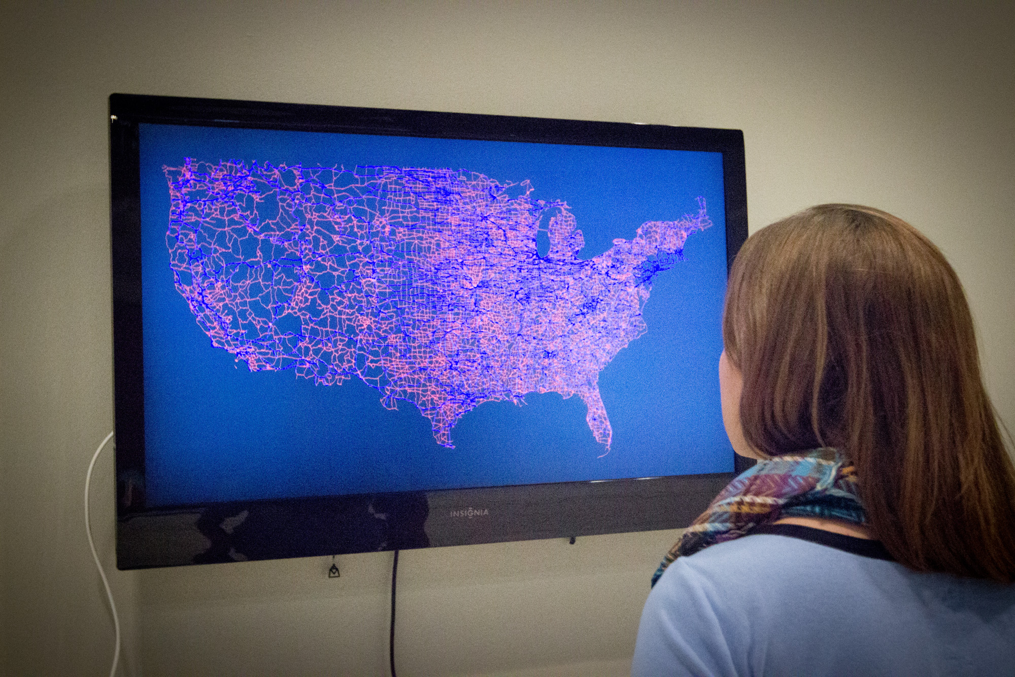 Recent BYU graduate Tiana Birrell's Mapping the Whole Exhibit will be open until Nov. 1. (Photo by Samantha Paskins.)