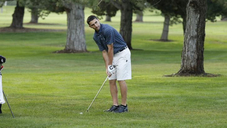 BYU sophomore Joe Parkinson prepares for a fairway shot in a tournament. Photo courtesy BYU Athletics