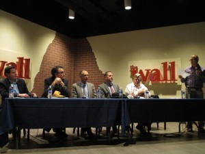 Panelists discuss important issues related to Utah's air quality. Photo courtesy BYU Environmental Science Club.