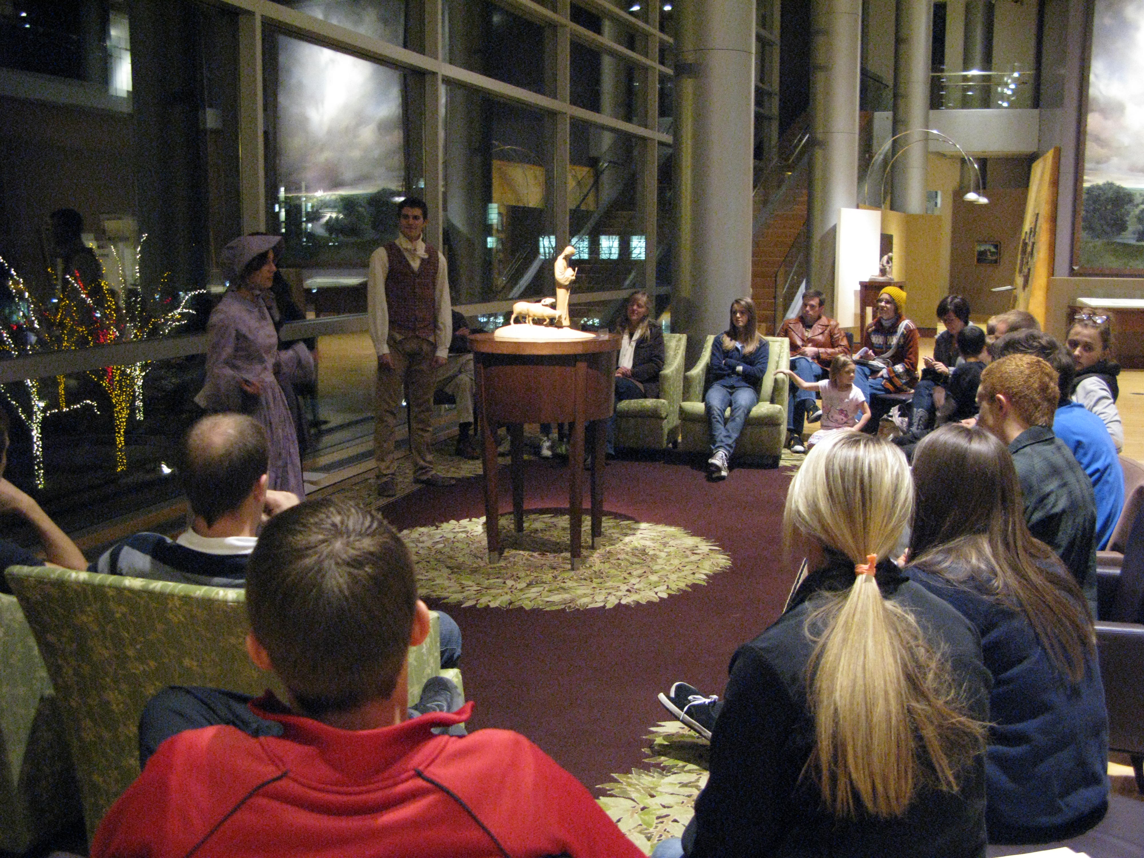 The Education in Zion gallery's most popular event of the year, Christmas in Nauvoo, involves the stories of latter-day saints and prophets during the Christmas season in Nauvoo. (Photo courtesy of Joe Moxon.)