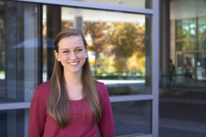 Acoustics student Jazmin Myres recently won the Robert W. Young Award for Undergraduate Student Research from the Acoustical Society of America for her work to reduce military jet noise. Photo courtesy Jazmin Myres