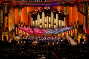 The Mormon Tabernacle Choir's 2012 Christmas concert. Just like last year, 2013's concert is expected to be well-attended. (Photo courtesy of the Mormon Newsroom.)