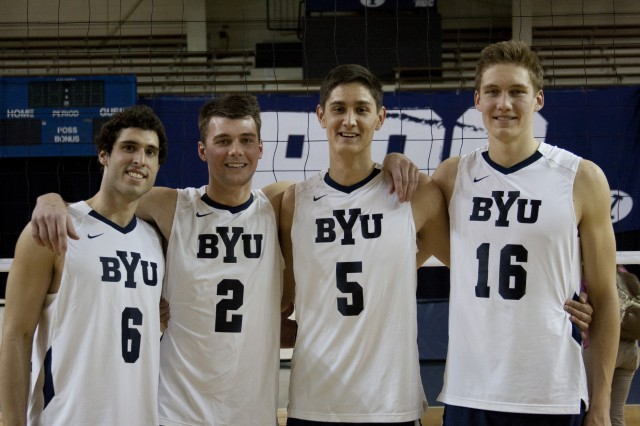 Men's volleyball players come from far and wide