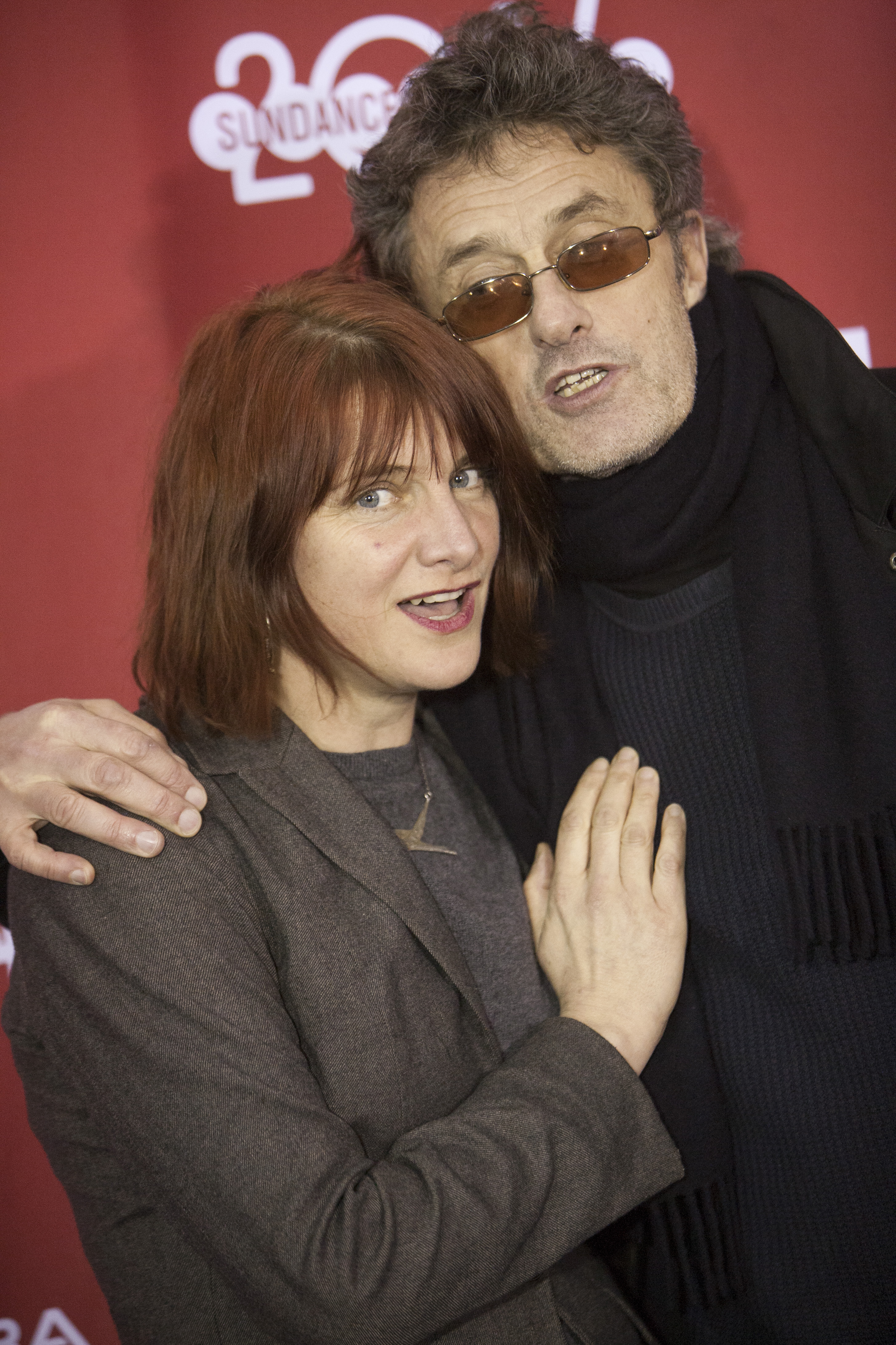 Screenwriters Pawel Pawlikowski and Rebecca Lenkiewicz at the Premiere of 'Ida' at Sundance