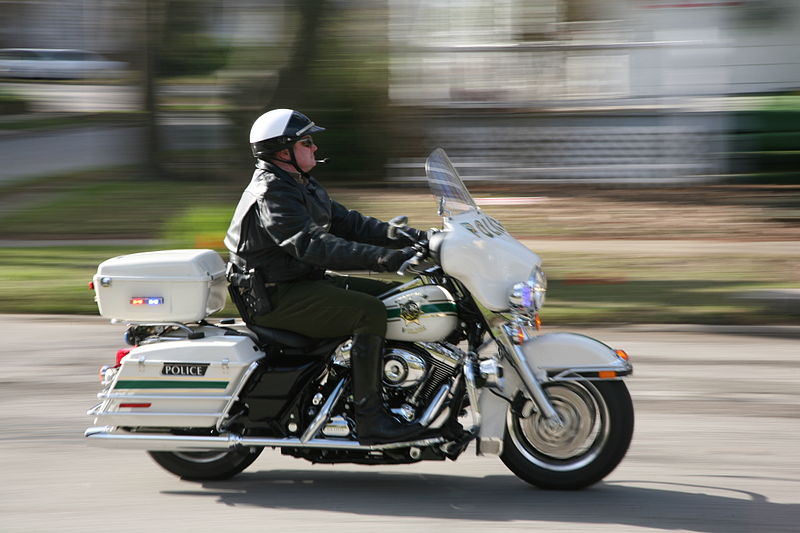 Police Officers on Motorcycles may not always carry their laptops. Photo Credit: I, Daniel Schwen, Wikimedia Commons
