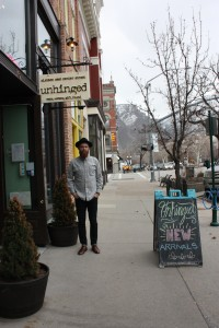 Quinn Peterson, Manager of Unfringed on Center Street