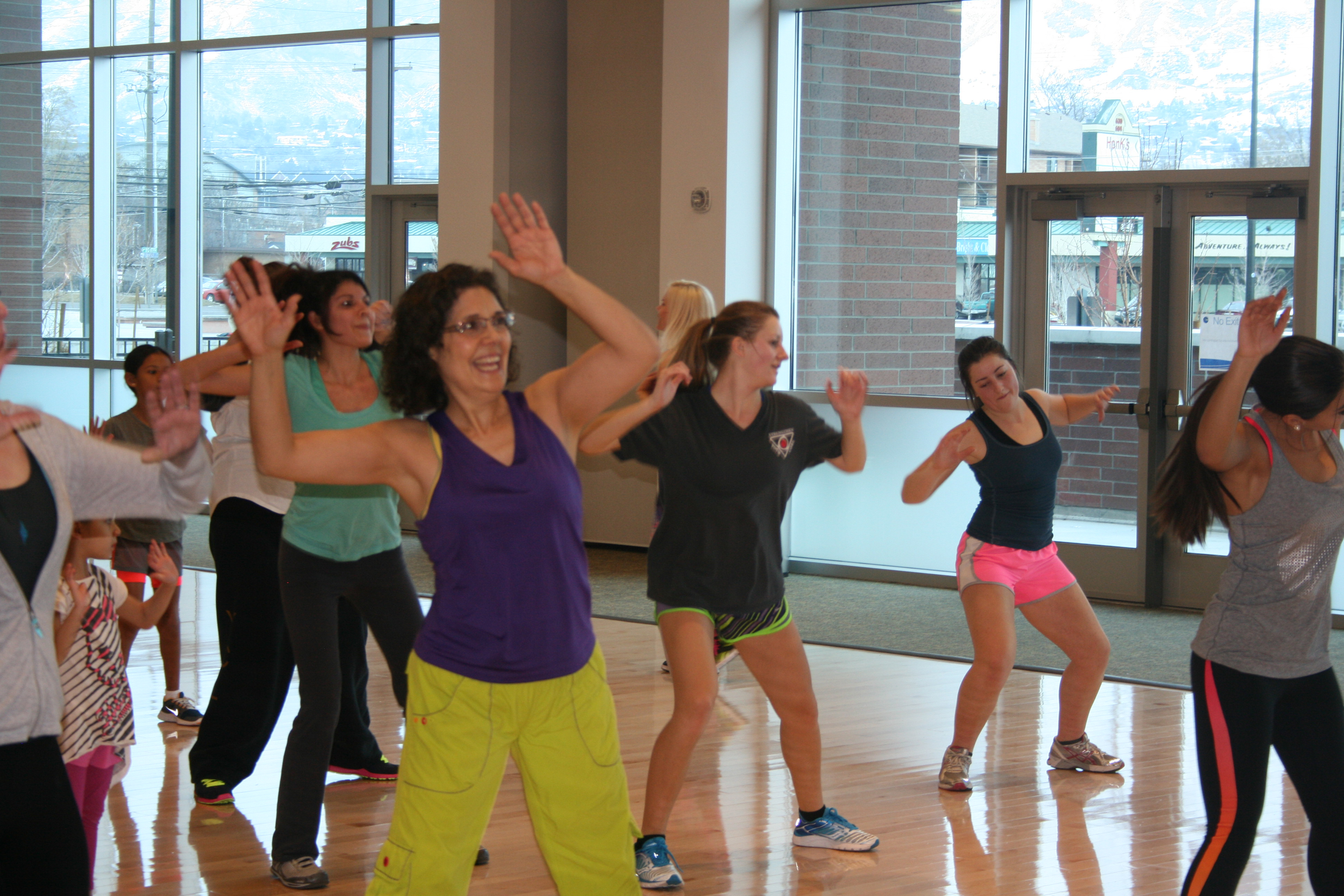 People of all ages danced during the Zumba class at Miss Provo's dance-a-thon. (Photo courteys of Sash Heaps.)