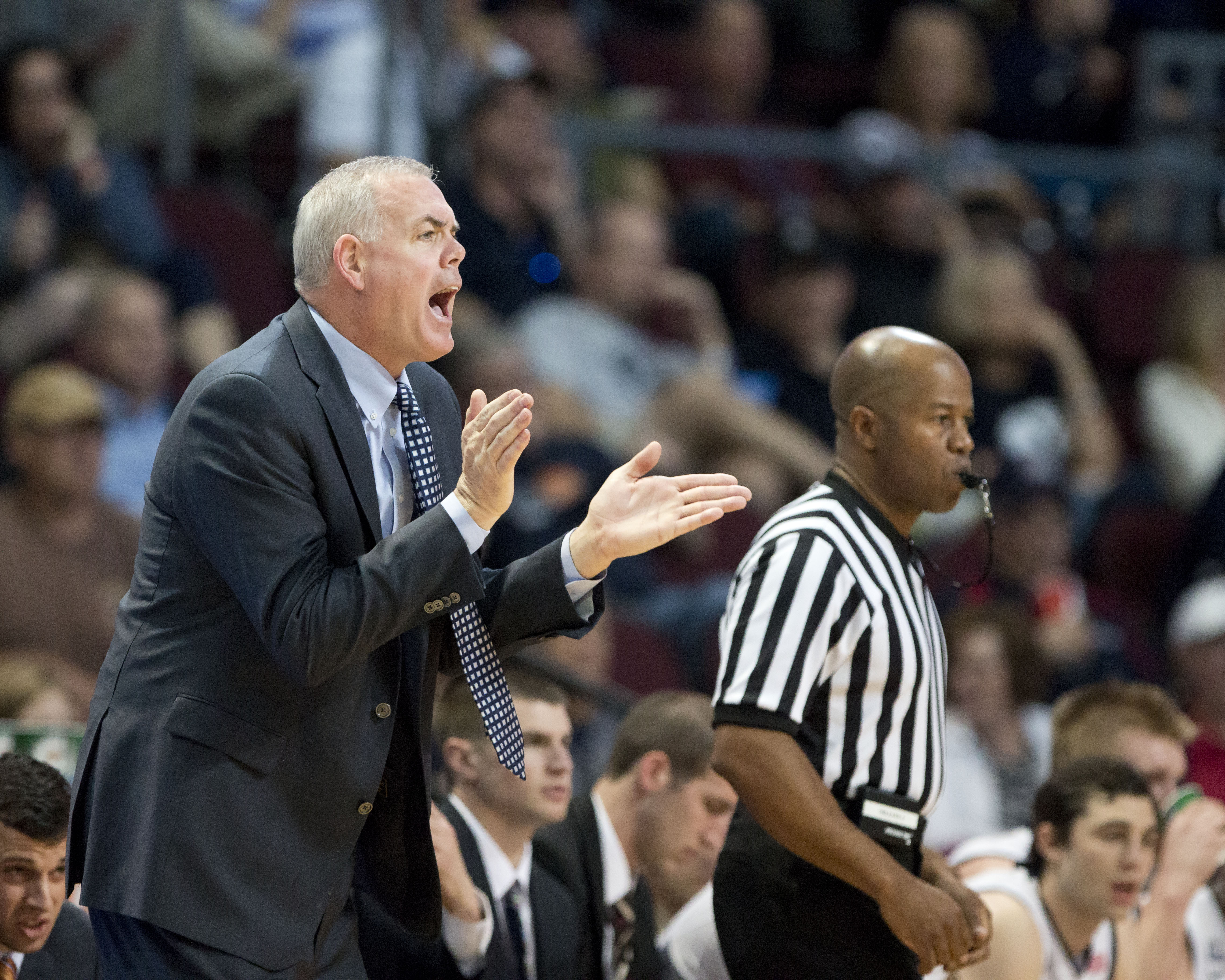 Dave Rose coaches BYU to their quarterfinal win at the WCC tournament, beating off LMU.