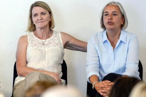 In this Aug. 27, 2013 file photo Associated Press photographer Anja Niedringhaus, right, and AP journalist  Kathy Gannon, are pictured during a visit to the photo agency Keystone in Zurich, Switzerland (Photo Courtesy Associated Press).
