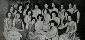 Female BYU students in 1930 (Photos from The Banyan, BYU's yearbook).