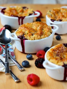 """Easy Berry Cobbler is one of the many cake-mix-based recipes found in BYU graduate Lizzy Early's new cookbook titled """"Make it with a Cake Mix."""" (Photo courtesy of Lizzy Early.)"""