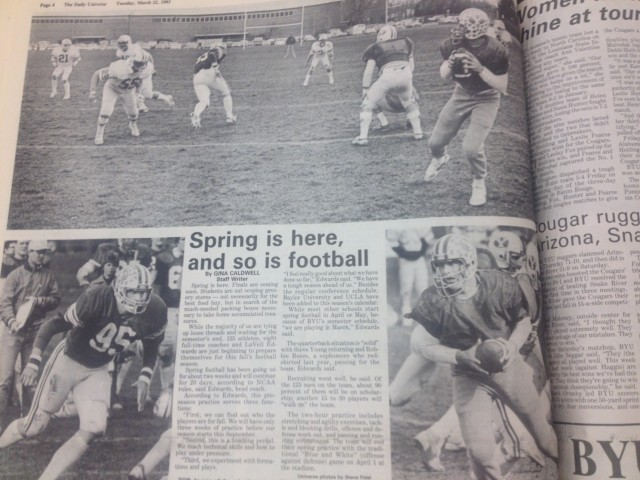 #TBT: Spring is here, and so is football