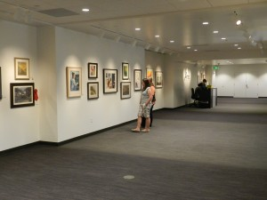 The Attic at Academy Square is located on the top floor of the Provo library and has a unique environment for guests to enjoy the art on display. (Jeffrey Allen)