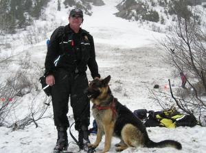 Search and rescue deputy Ron Zeeman participates in avalanche training. Photo courtesy Ron Zeeman