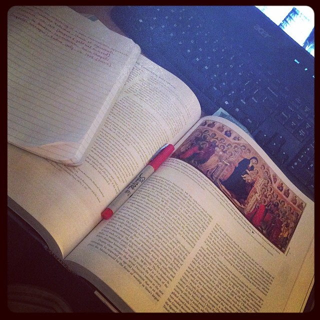 @kaitpueblo: First day back to school and my schedule is already out of whack. Art history homework at 4 am. #arthistory #renaissance #homework #byu