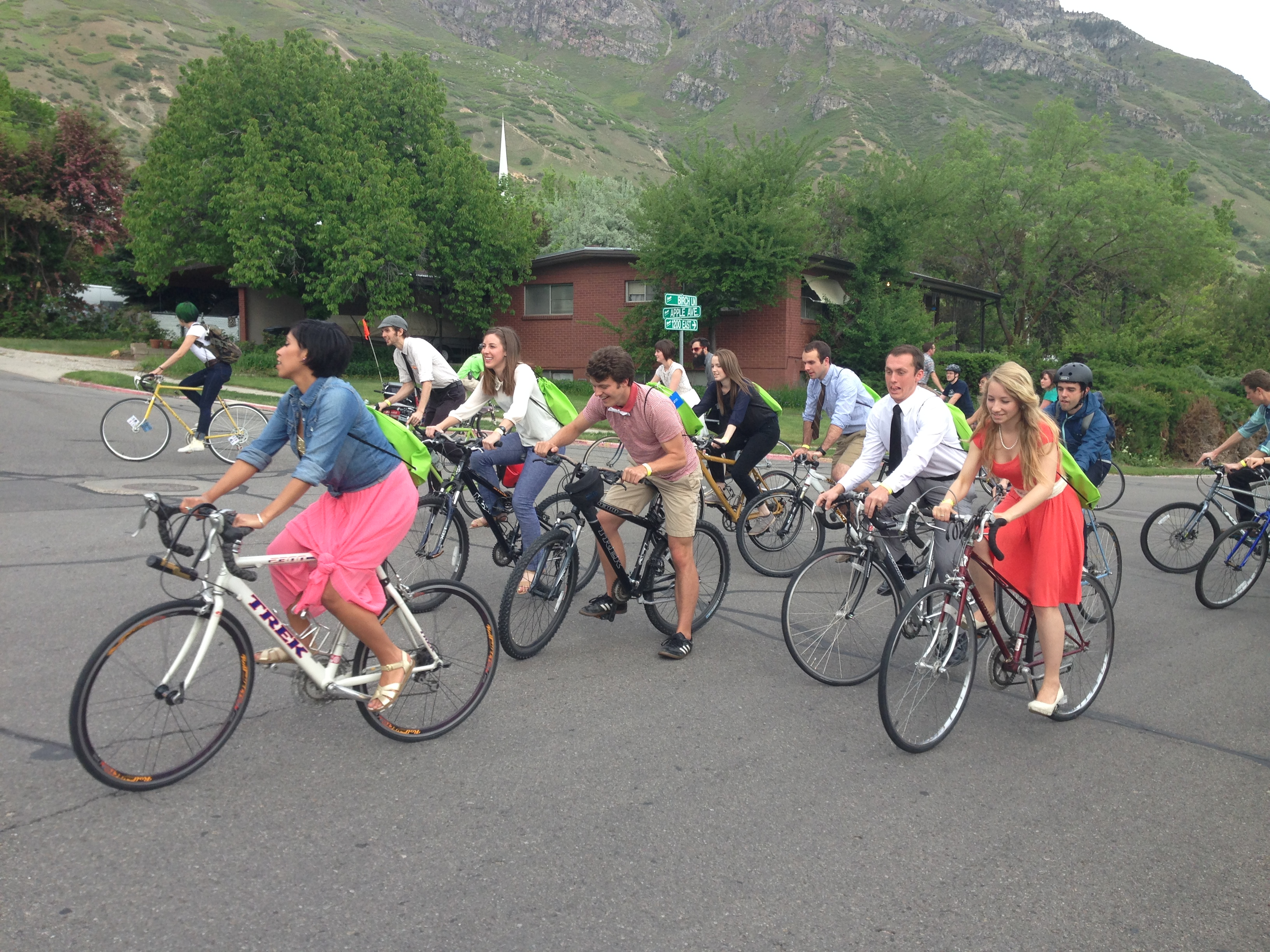 Riders begin the bike portion of Provo City's Bike Prom. Photo by Miranda Facer