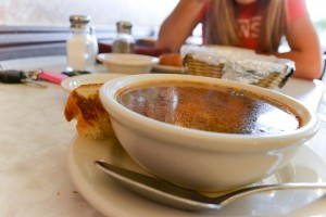Complete with homemade bread, the minestone soup at La Dolce Vita is a customer favorite. (Kayla Ellis)