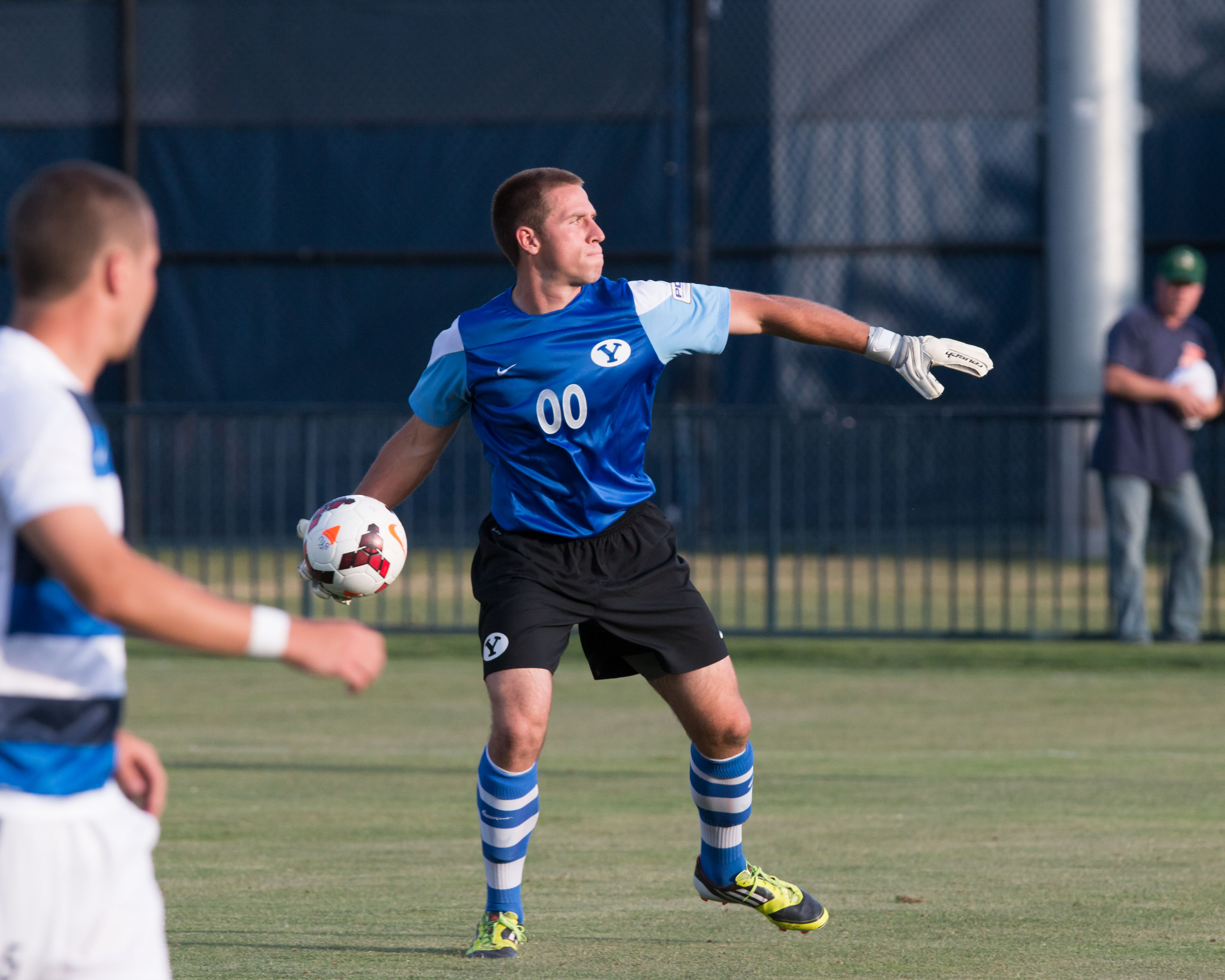 Keeper Brian Hale throws the ball back into play in a home game against the Real Colorado Foxes on June 24.  (Elliott Miller)