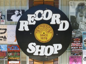 The Randy's Records sign highlights the shop is niche as Utah's vinyl specialist since 1978. (Hayden Harman)