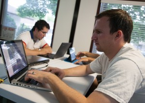Student Tyler Morgan works on one of his web design projects at Provo Web Academy. The academy offers four-, six- or nine-week programs focusing on the basics of computer languages.