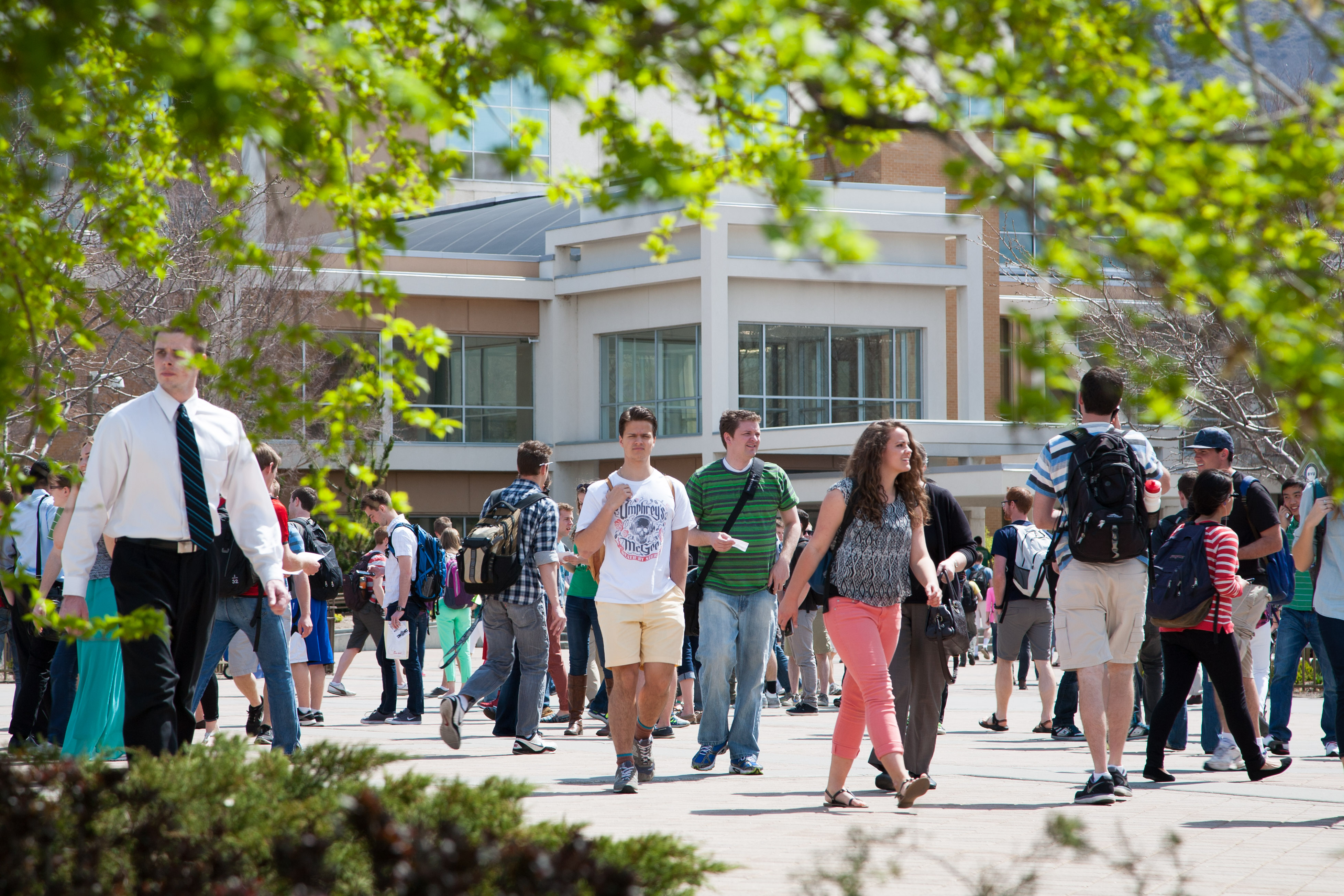 BYU students return to school to start spring/summer classes. Photo by Elliot Miller.
