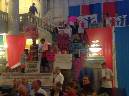 Stand for Marriage rally draws hundreds