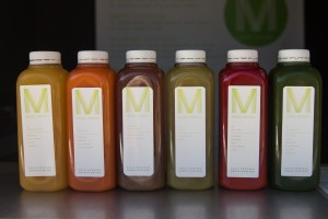 A variety of colorful juices from Mend Juicery at The Shops at Riverwoods in Provo. (Ari Davis