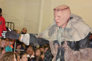 "Monster Frank Shelly visits schools across Utah encouraging kids to ""not be a monster."" The anti-bullying campaign ""Don't Be a Monster"" partners with local haunted houses like Nightmare on 13th in Salt Lake City. (Don't Be a Monster)"