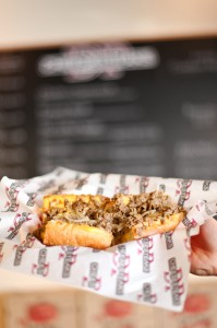 The Mushroom Pepper Steak is the number one seller at DP Cheesesteaks. The sandwich is packed full of onions, mushrooms, sweet red peppers, with the choice of provolone or cheese whiz. (DP Cheesesteaks)