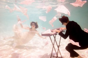 Jake Justice contrasts fire with water in a special underwater photo shoot promoting his new album. (Alfredo Chocano)
